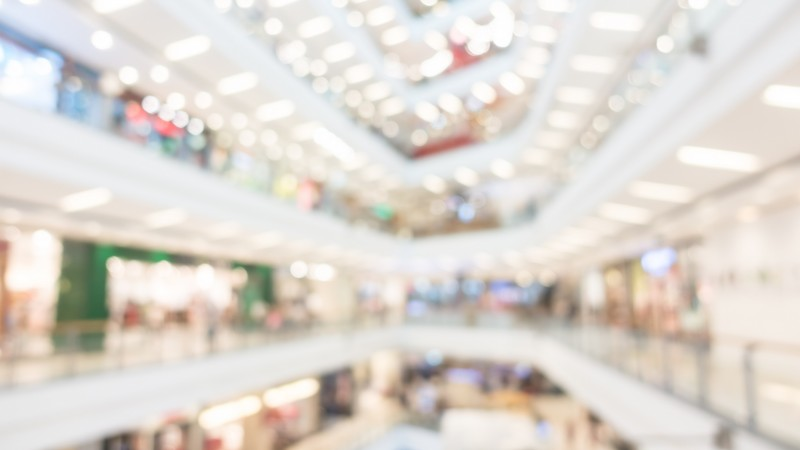 Abstract blur beautiful luxury shopping mall and retail store interior for background